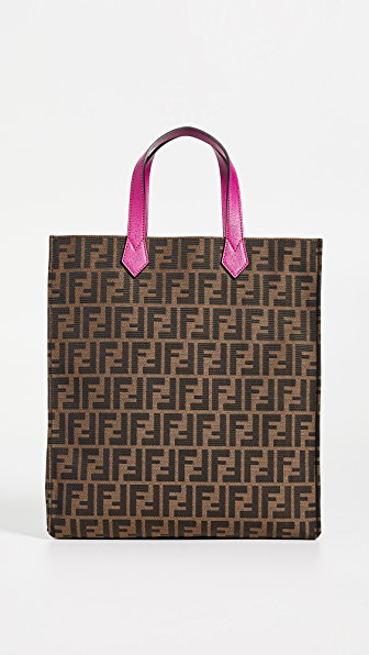 c74ad0b9bbd4 What Goes Around Comes Around Fendi Zucca Tote In Brown