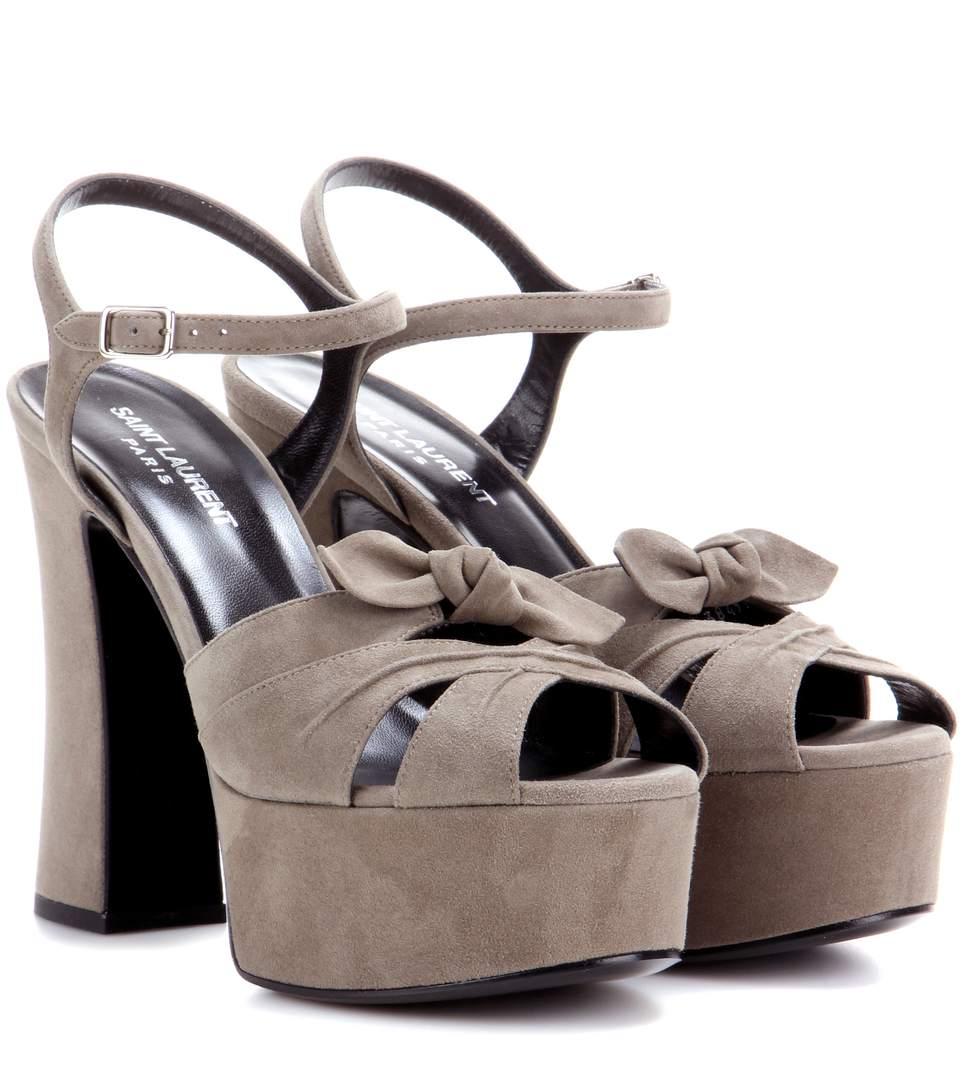 aaf1c0434e2 Saint Laurent Candy 80 Khaki Platform Sandals In Kaki Militaire ...