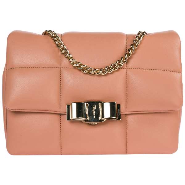 Salvatore Ferragamo Women's Leather Shoulder Bag In Pink