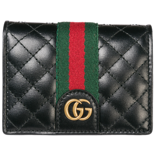 gucci women's genuine leather credit card case holder