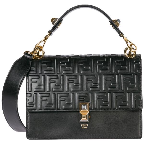78857377 Women's Leather Handbag Shopping Bag Purse Kan I in Black