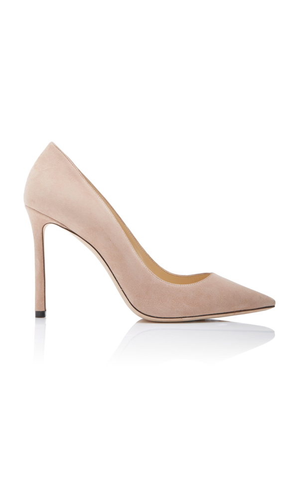 Jimmy Choo Leather Womens Romy 100 Pointed - Toe Pumps in