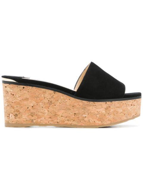 Jimmy Choo Women's Deedee 80 Platform Slide Sandals In Black