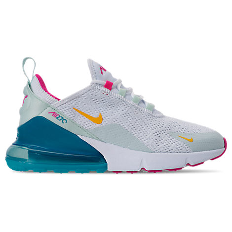 nike women's air max 270 casual shoes in white  modesens