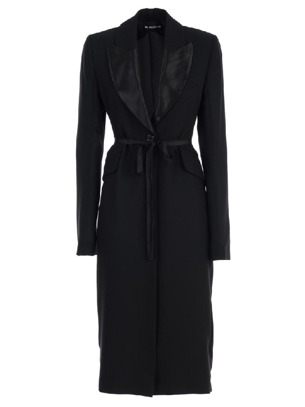 Ann Demeulemeester Oversized Sleeve Coat In Black Frida Black