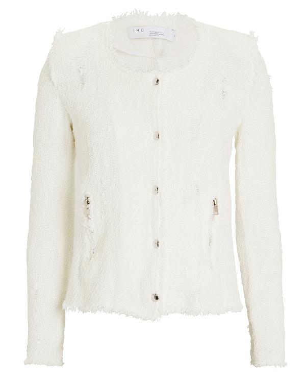 Iro Agnette Tweed Jacket In White
