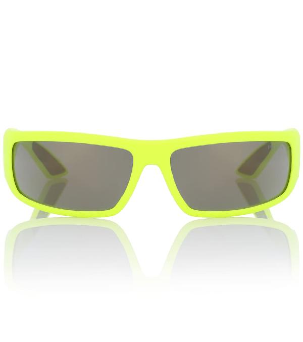 Prada Runway Sunglasses In Yellow