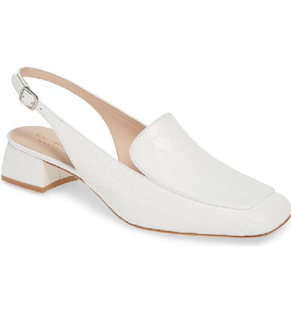 557f0b84124 Kate Spade Sahiba Slingback Loafer In White