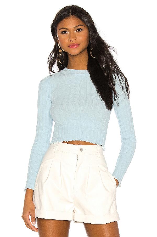 Majorelle Lexington Sweater In Blue. In Sky Blue