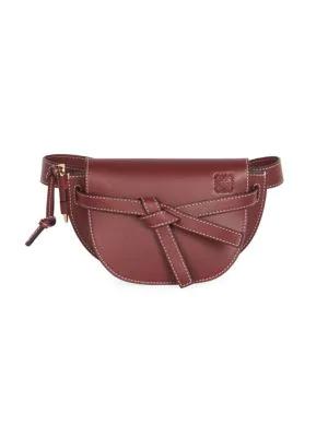 9df072e6d849 Loewe Mini Gate Leather Belt Bag In Wine | ModeSens
