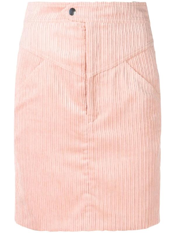 7a5c3b5a7a95 Isabel Marant Marsh High Waist Corduroy Skirt In Pink | ModeSens
