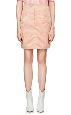 Isabel Marant Marsh High Waist Corduroy Skirt In Pink