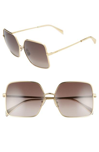 c6e63fc971b2 Celine 60Mm Gradient Square Sunglasses - Palladium/ Gradient Blue ...