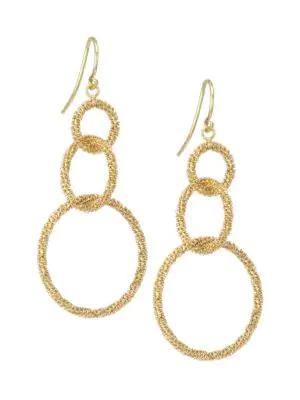 Amali 18k Yellow Gold-wrapped Chain Triple-drop Earrings
