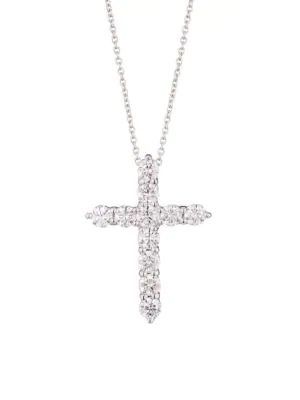 Roberto Coin Diamond Crosses 18K White Gold & Diamond Necklace
