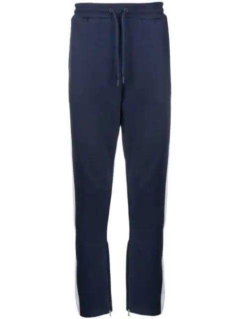 Fila Side Stripe Track Trousers In Blue