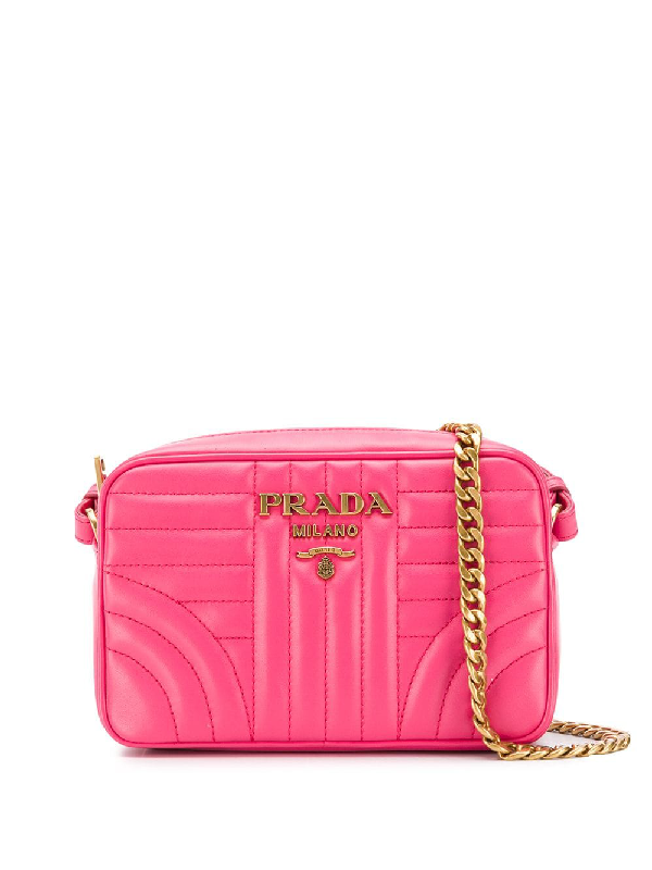 0df85bf0eb3a Prada Diagramme Crossbody Bag - Pink