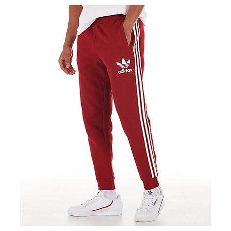 adidas 3 stripe fleece pants