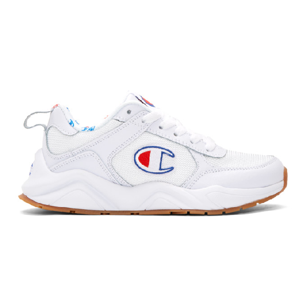 4df71ccbbf864 Champion Reverse Weave White 93Eighteen Classic Sneakers