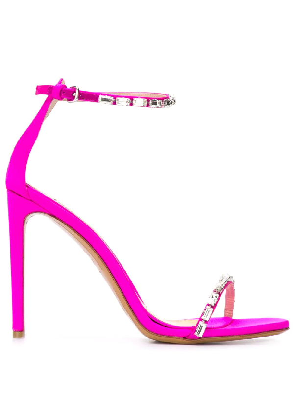 6b3f2b53 Alexandre Vauthier Carla Satin Sandals In Pink | ModeSens