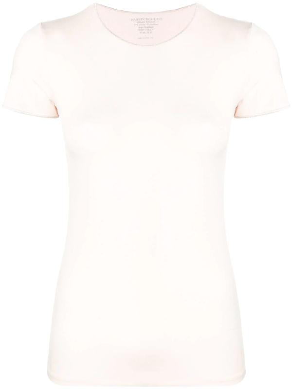 df9b5fb0a00d Majestic Filatures Plain Fitted T-Shirt - Pink | ModeSens