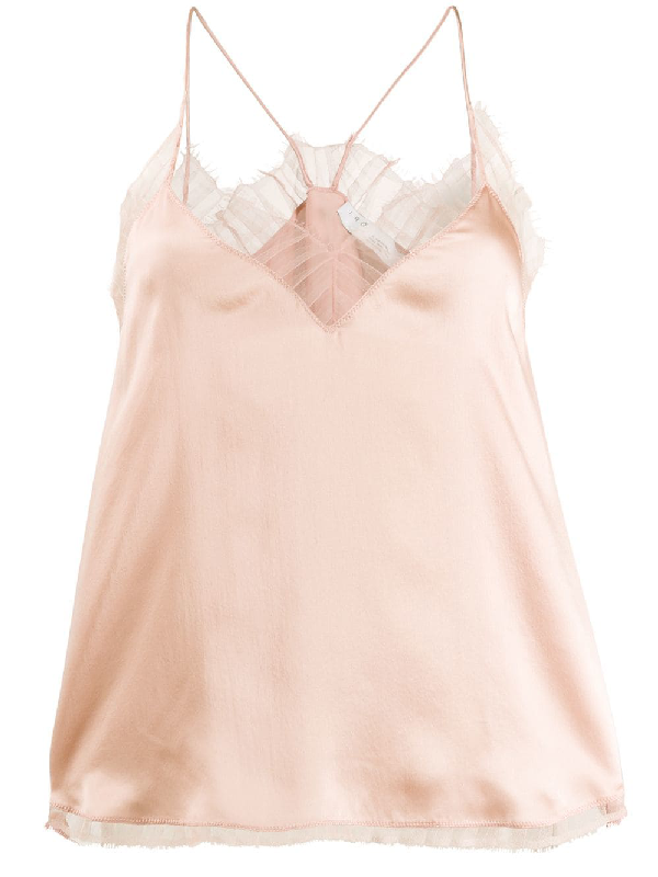 Iro Lace-Detail Camisole Top - Neutrals