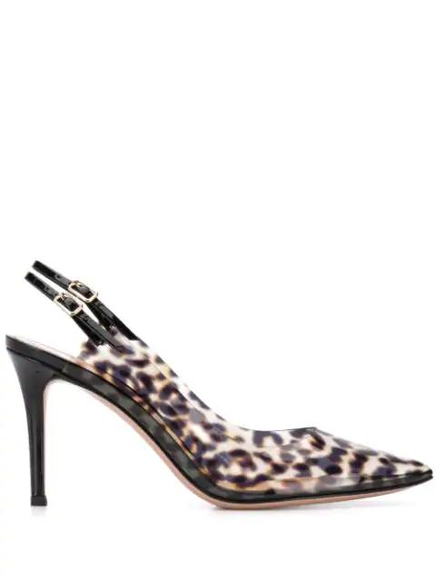 Gianvito Rossi Kylie 100 Leopard-print Perspex Pumps In Neutrals
