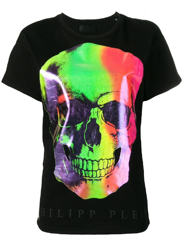 235f455c03 Philipp Plein Multicoloured Skull Print T-Shirt - Black | ModeSens