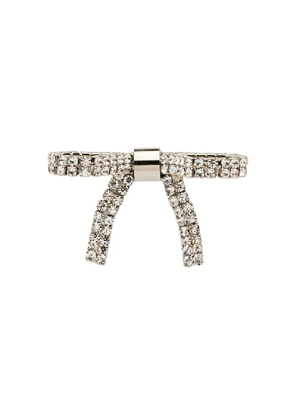 Miu Miu Crystal-Embellished Hair Clip - Metallic