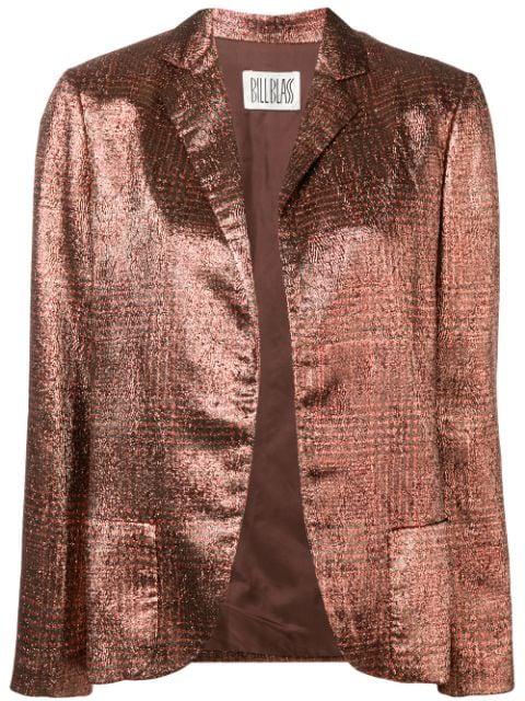 Pre-owned Bill Blass Vintage 1980's Metallic Blazer