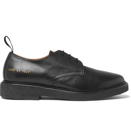 db8bef266a3e Common Projects Cadet Saffiano Leather Derby Shoes In Black