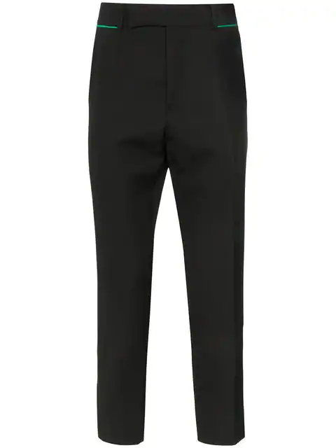 Haider Ackermann Black Slim-fit Tapered Embroidered Virgin Wool Trousers - Black In 099 Black