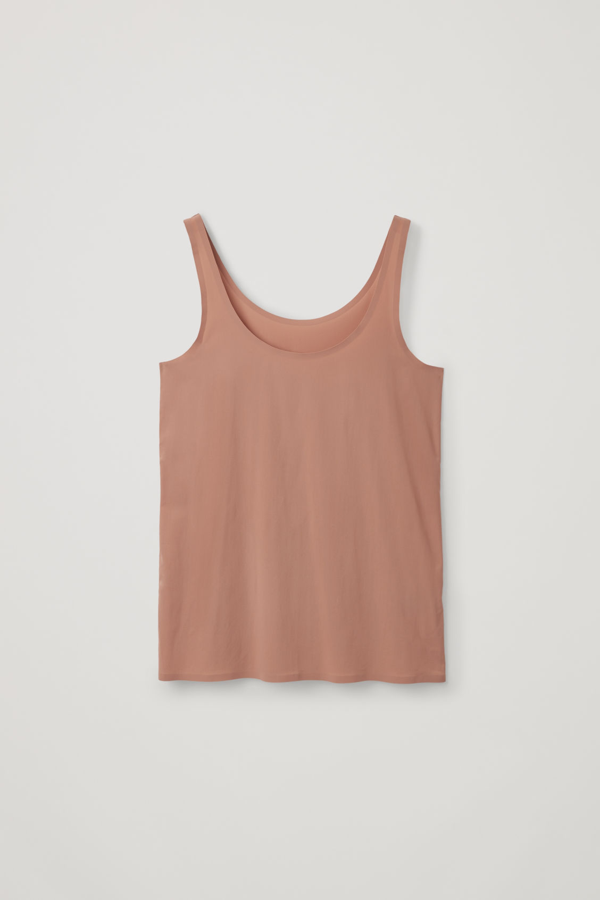 Cos Seamless Vest Top In Beige