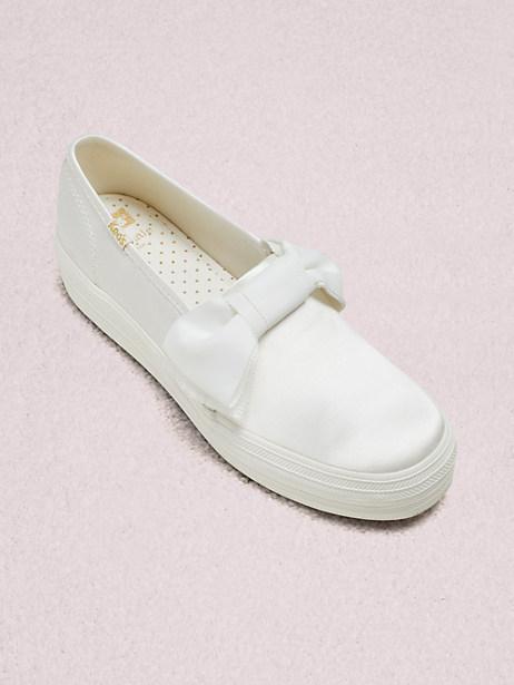 0d82769d9d9 Kate Spade Keds X New York Triple Decker Bow Sneakers In Cream ...