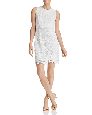 ea8d0e616 Aqua Scalloped Lace Sheath Dress - 100% Exclusive In White