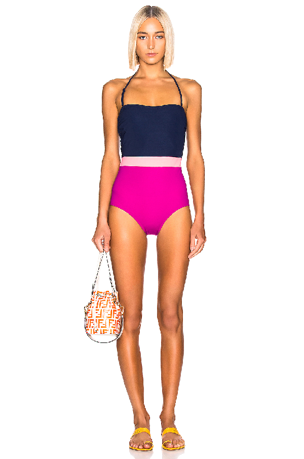 5803e53be20 Flagpole Rita One-Piece Swimsuit In North Navy Multi | ModeSens