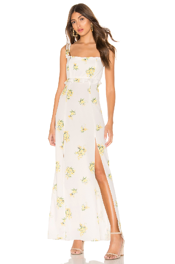 df9dbc3616689 Show Me Your Mumu Bristol Floral Side Slit Maxi Dress In Sunny Side Floral