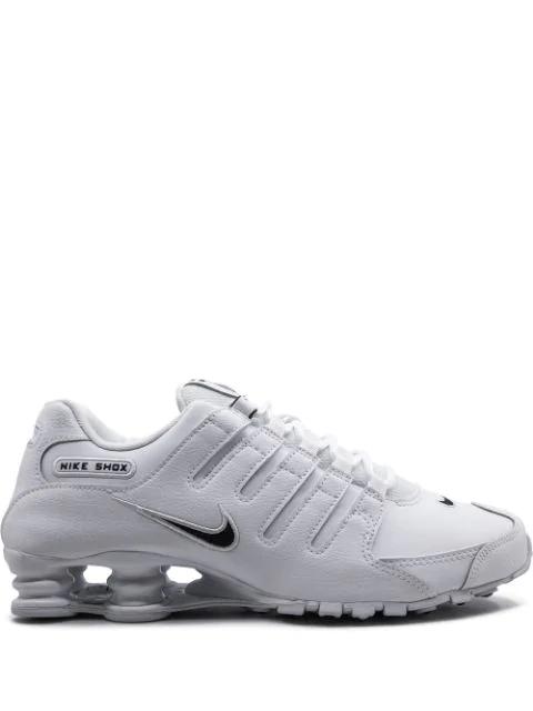 Nike Men's Shox Nz Eu Running Sneakers From Finish Line In White
