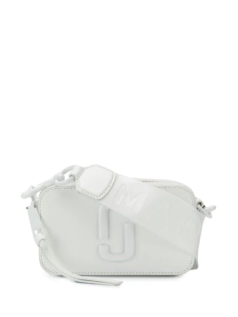 Marc Jacobs Snapshot Leather Crossbody Bag - White In 128 Moon White