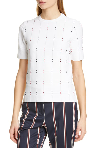 Ted Baker Heniee Check Sweater In White
