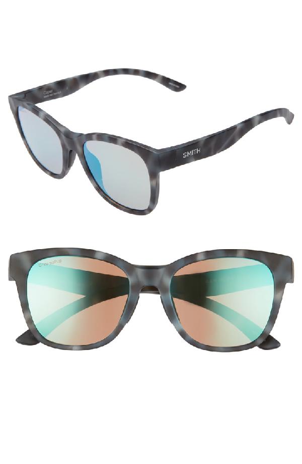 ce6a3fb337941 Smith Caper 53Mm Chromapop(Tm) Square Sunglasses - Ash Tortoise  Opal Mirror