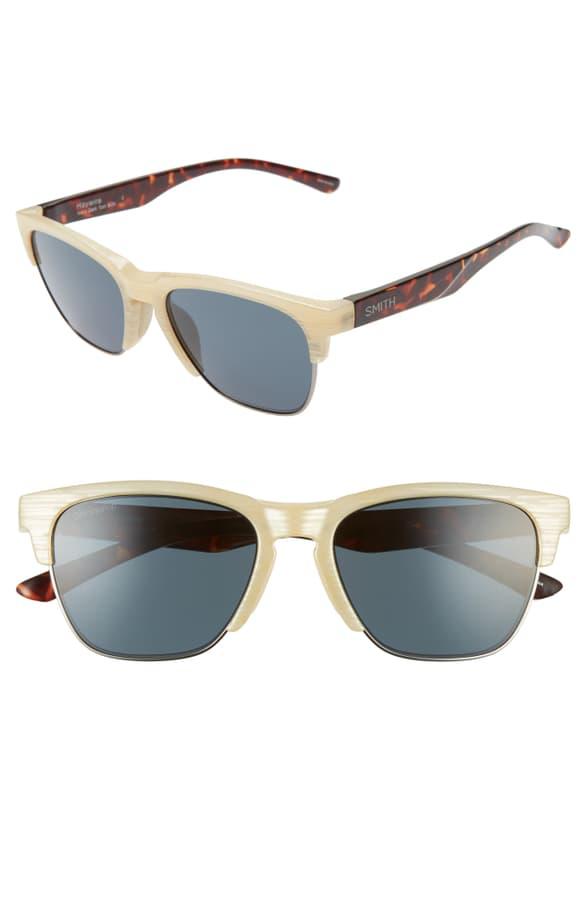 Smith Haywire 55mm Chromapop(tm) Sunglasses In Ivory Dark Tortoise/ Black