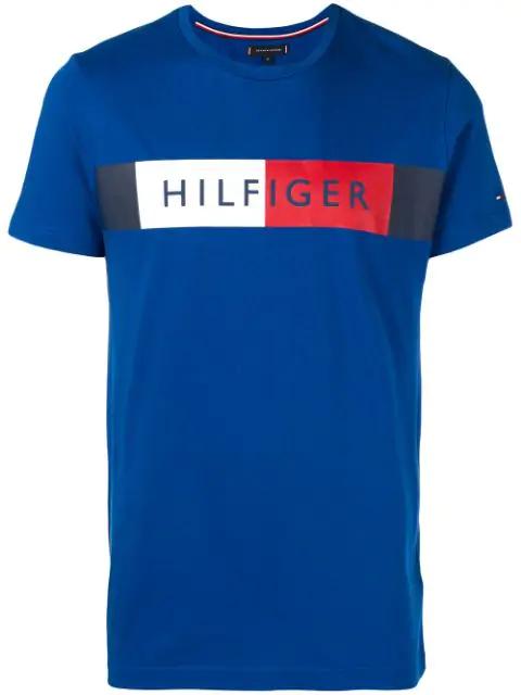 Tommy Hilfiger Logo T-shirt In 431 Blue Quartz