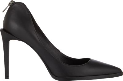 Helmut Lang Leather Point Toe Pumps In Black