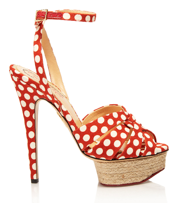 Charlotte Olympia Alanis In Red & White