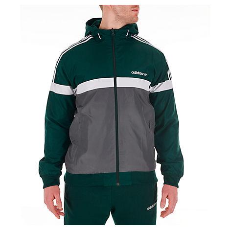 Adidas Originals Adidas Men's Originals Itasca Windbreaker Jacket In Green Size Medium Polyester