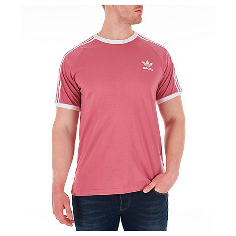 e72f047f31 Adidas Originals Men's Originals 3-Stripes T-Shirt, Pink | ModeSens