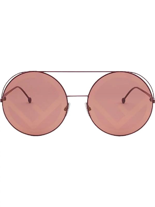 0d9936802504 Fendi Eyewear Rama Sunglasses - Red | ModeSens