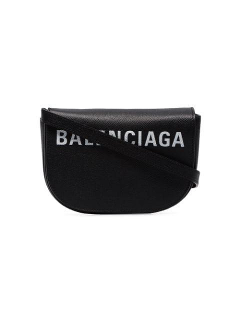 Balenciaga Ville Xs真皮斜挎包 - 黑色 In Black