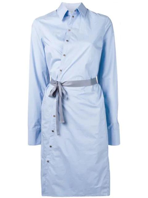 A.F.Vandevorst Hemdkleid Mit TaillengüRtel - Blau In Blue